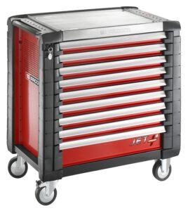 servante d'atelier vide Facom rouge 9 tiroirs