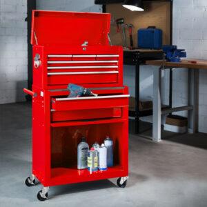 servante d'atelier vide pas cher 7 tiroirs avec coffre à outils