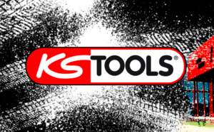 Logo KS Tools Sur visuel traces pneus