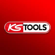 Logo KS Tools sur fond rouge dégradé