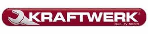 Logo Kraftwerk rouge sur fond blanc