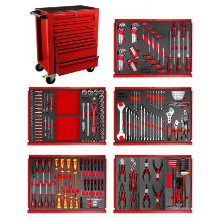 Servante d'atelier complète MW-Tools avec 211 outils