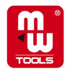 Logo MW-Tools Carré écrit en blanc sur fond rouge