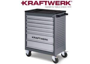 Servante Kraftwerk B117 grise avec logo en rouge au dessus