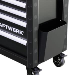 Panneau latéral servante Kraftwerk noir 7 tiroirs