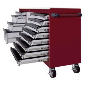 Servante xxl Kraftwerk tiroirs ouverts de couleur pourpre