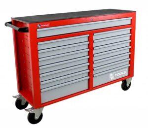 Servante d'atelier large MW-Tools 15 tiroirs rouge avec tiroirs gris